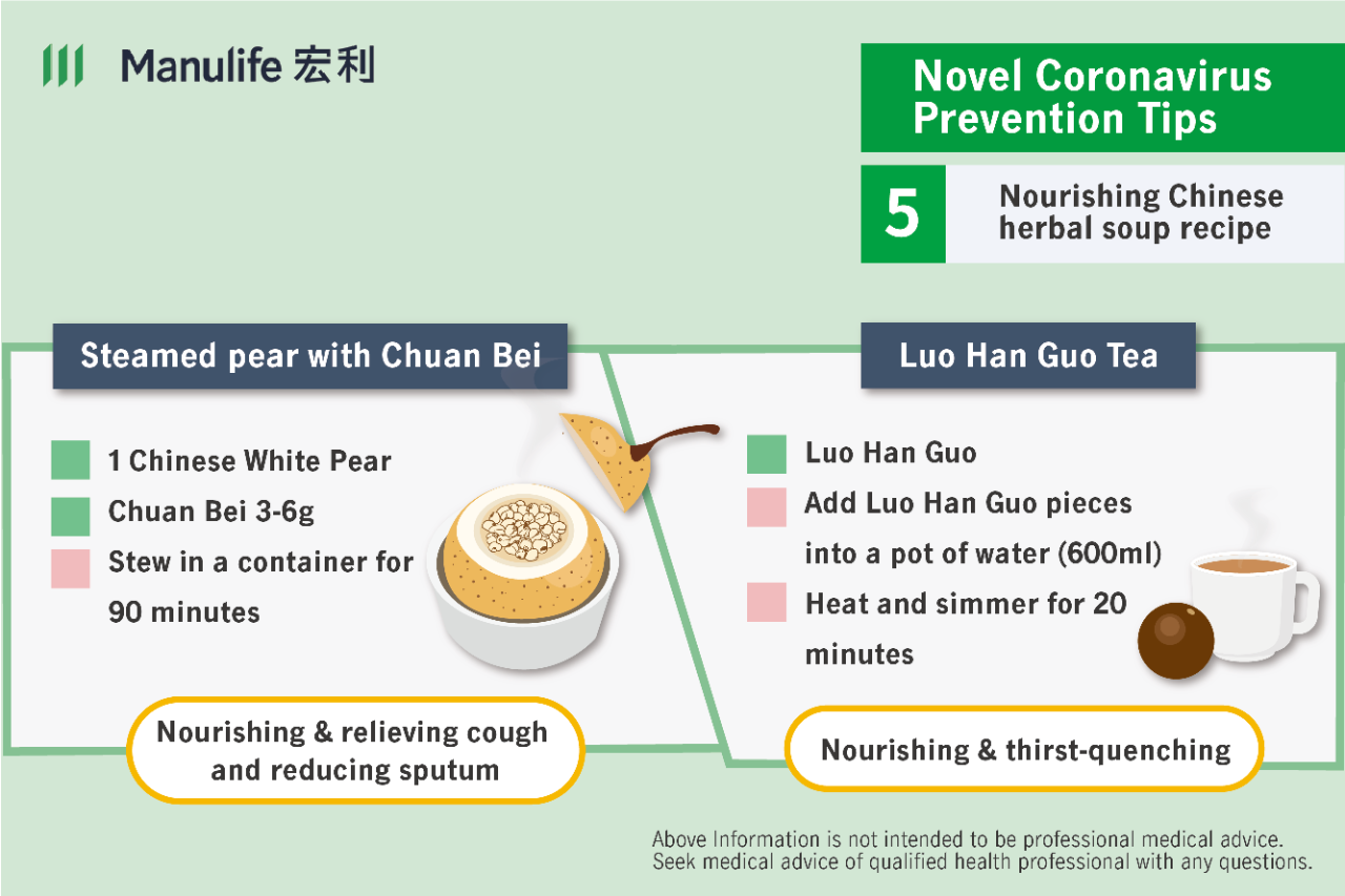 Tips on how to make immunity boosting teas and soups during the Novel Coronavirus outbreak in Hong Kong.