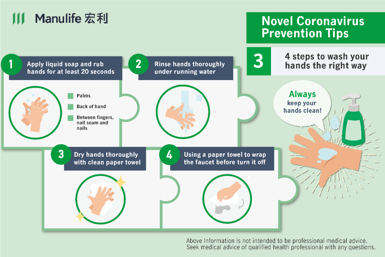 Coronavirus prevention tips on how to wash your hands safely and properly during the outbreak in Hong Kong.